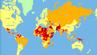 """Die Travel Risk Map von """"International SOS"""" bezogen auf die Reisesicherheit in Ländern weltweit."""