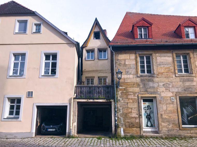 Kleines Häuschen in der Bayreuther Innenstadt.