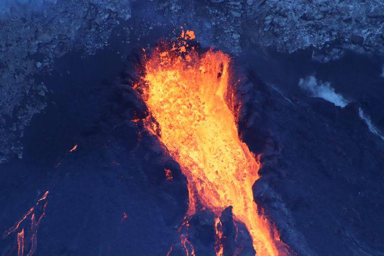 Der aktive Kilauea auf Hawaii.