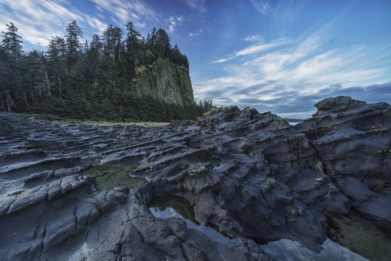 Graham Island ist die Hauptinsel der Inselgruppe Haida Gwaii vor Britisch-Kolumbien.