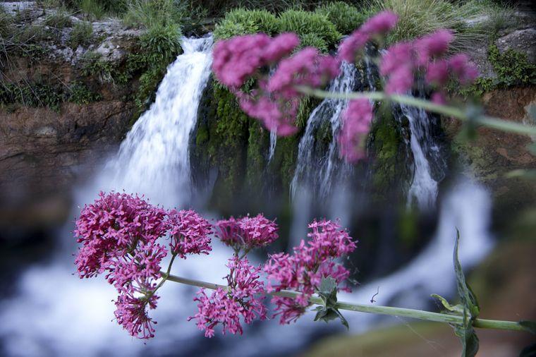 ein Wasserfall in Teruel.