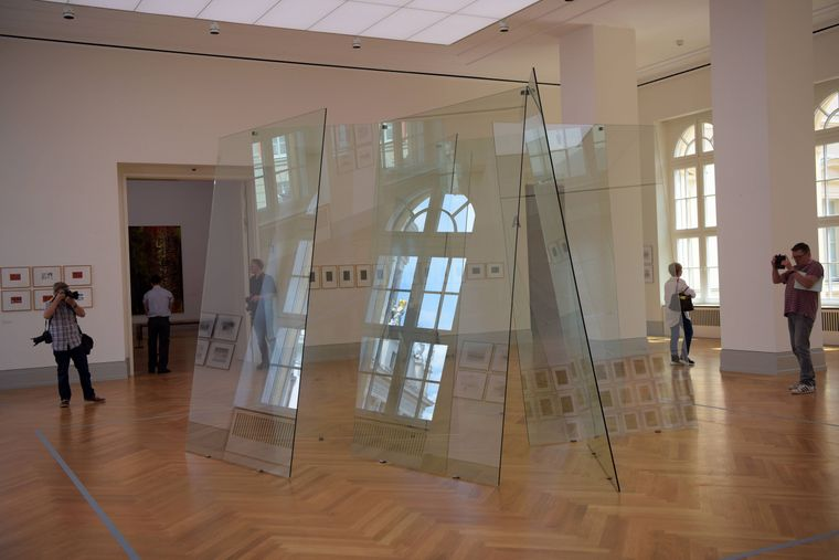 Eindruck der Ausstellung Abstraktion von Gerhard Richter im Museum Barbarini.