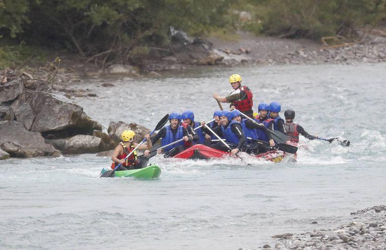 Rafting auf dem Lech.