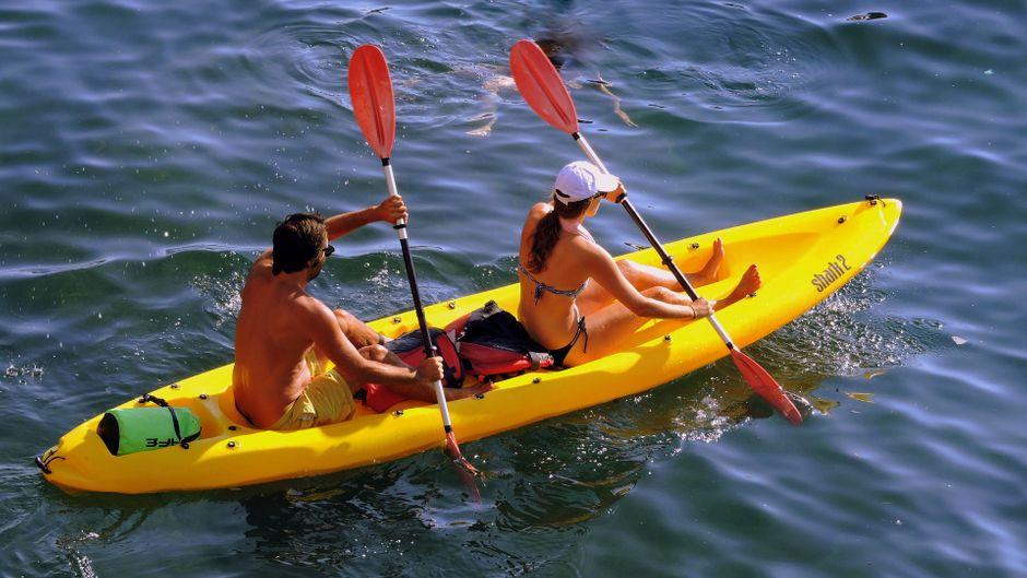 In Brandenburg kannst du die Elebe mit einem Boot rauf und runter paddeln.