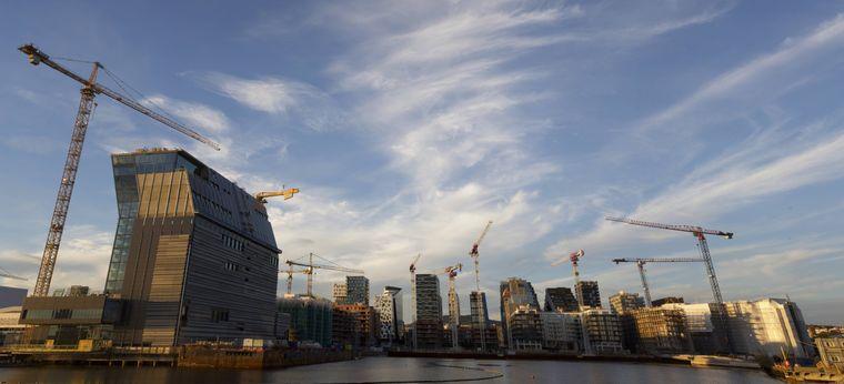 Der Bau des neuen Munch Museum in Oslo im Jahr 2018.