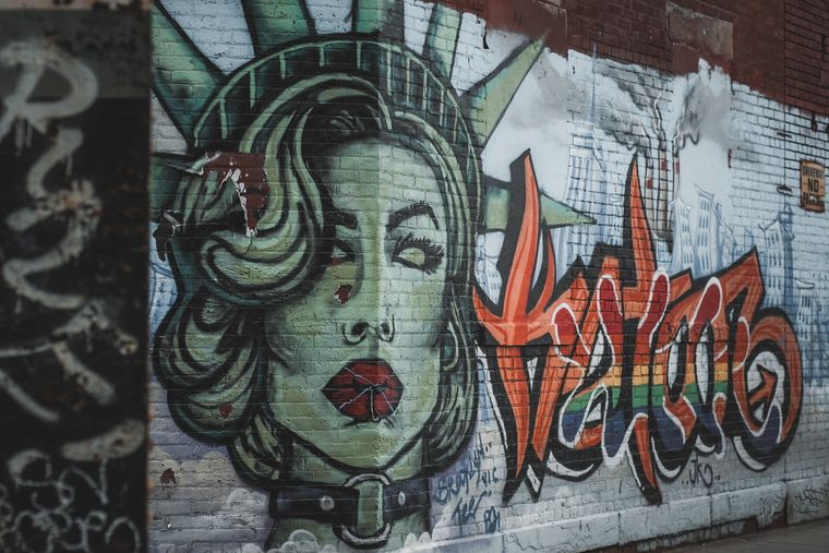 Graffiti in Brooklyn, New York.