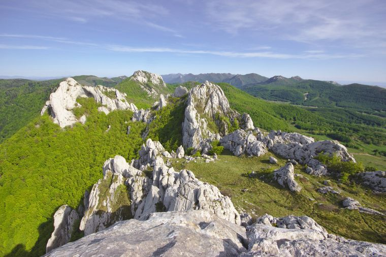 Kalksteinfelsen im mittleren Velebit