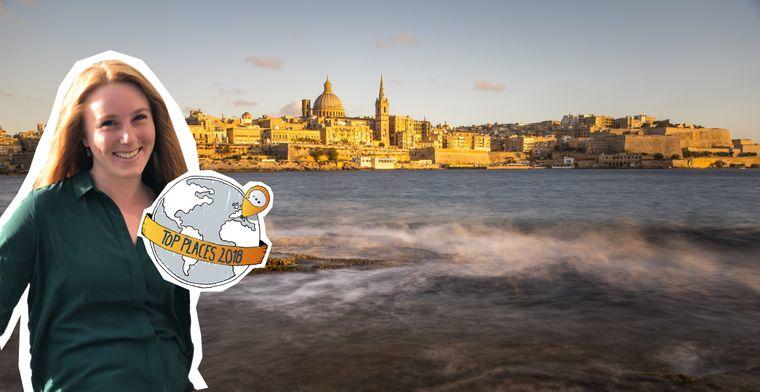 Montage des reisereporter Top Place Valletta mit der Skyline von Valetta, der Hauptstadt von Malta.