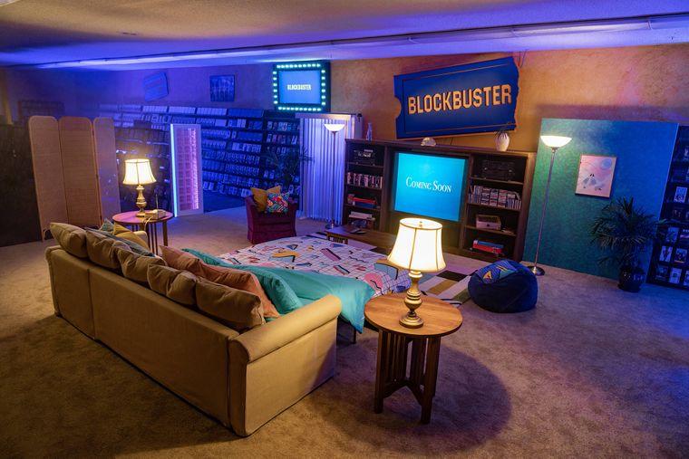 Airbnb-Unterkunft in der letzten Blockbuster-Videothek der Welt.