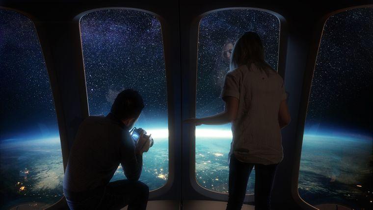 Die Neptune-Kapsel von Space Perspective bietet einen 360-Grad-Blick auf die Erde.