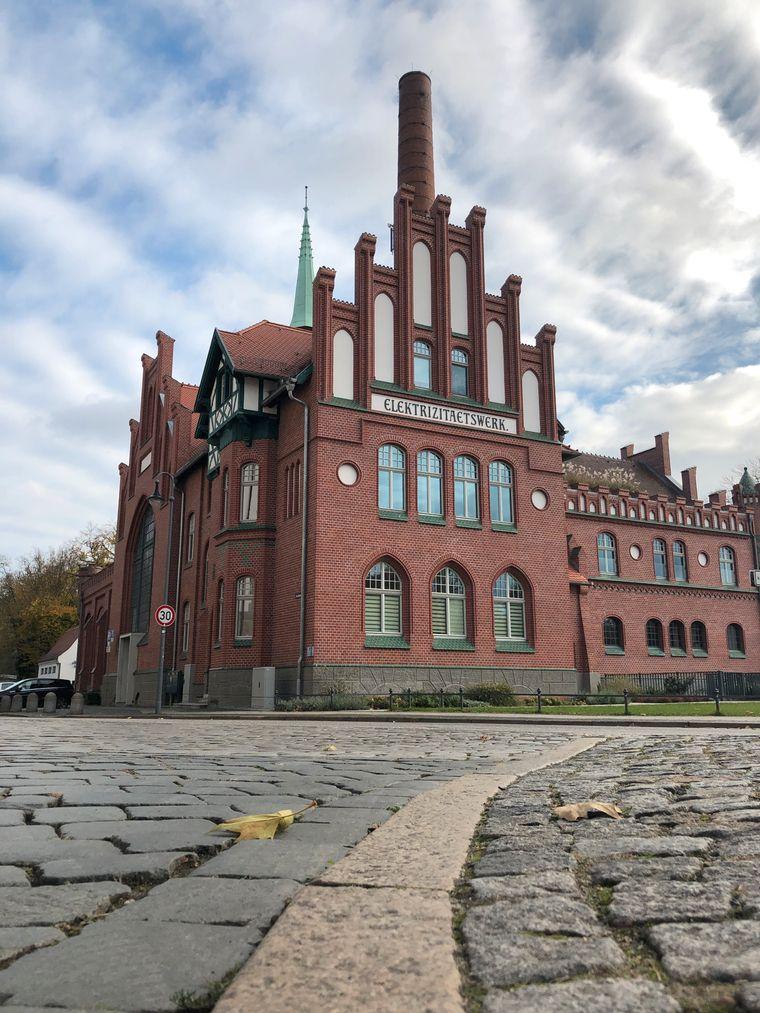 Das Elektrizitätswerk in Cottbus.