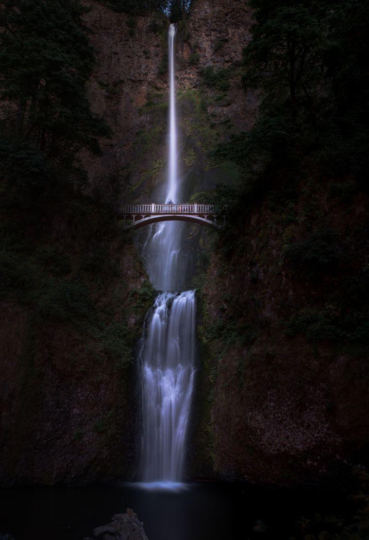 Multnomah-Falls am Columbia River George in Oregon.