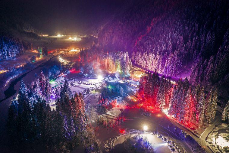 Die beleuchtete Winterwandernacht Klaus Äuele von oben