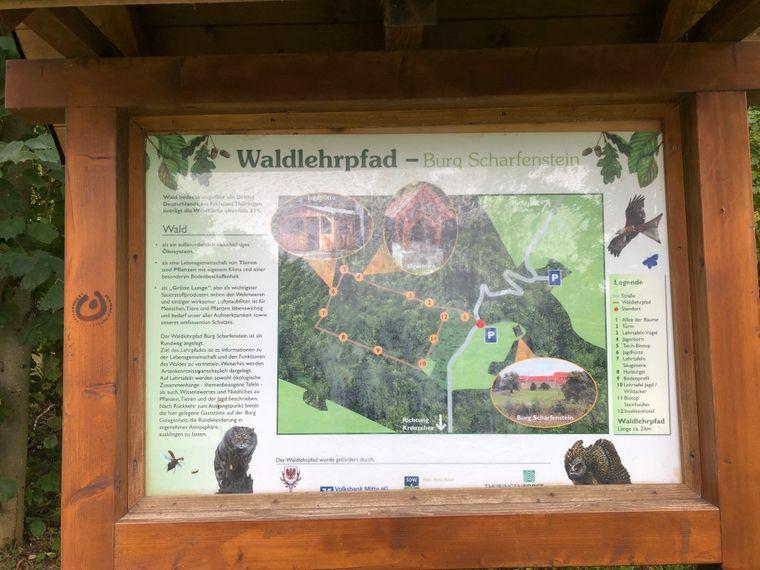 Auf den Infotafeln können sowohl Groß und Klein sich über die Lebewesen und Pflanzen der Umgebung informieren.