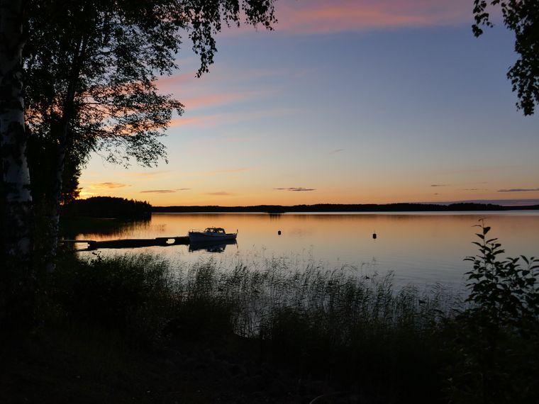 Abendstimmung am See in Punkaharju.