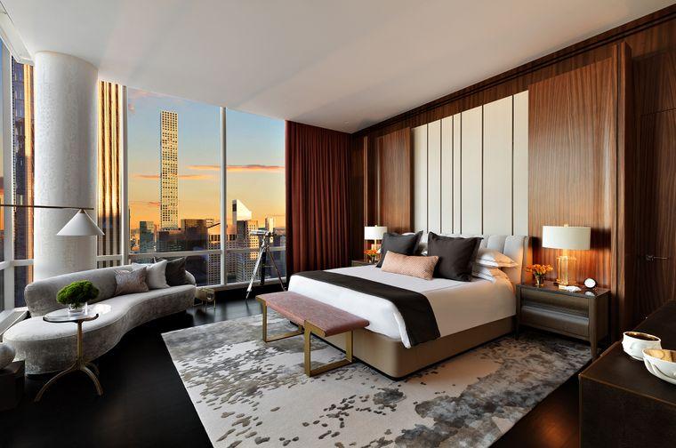 Das Master-Schlafzimmer: Schlafen zwischen den Wolkenkratzern in Manhattan.