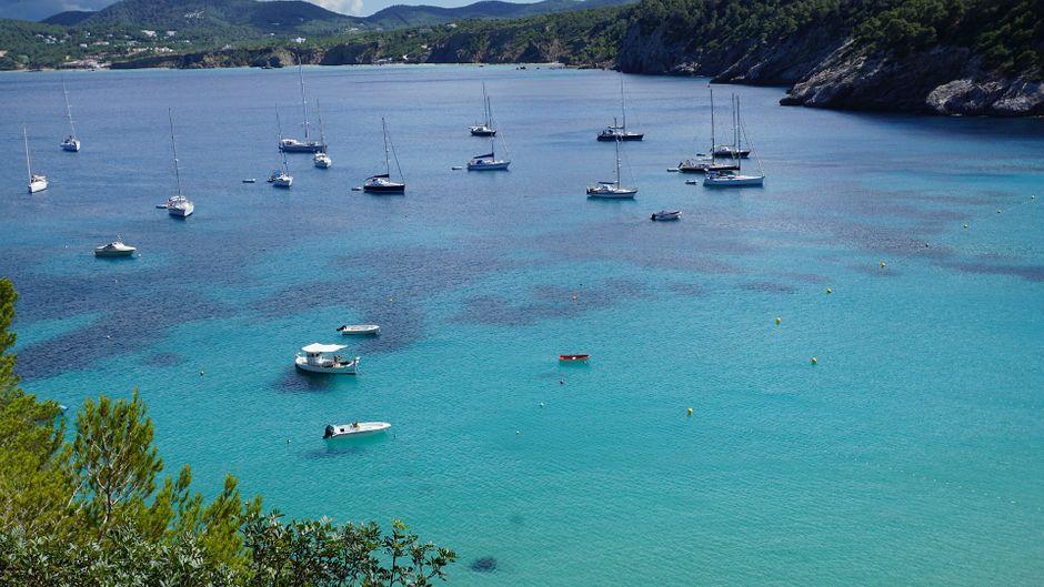 Eine von Ibizas wunderschönen Buchten