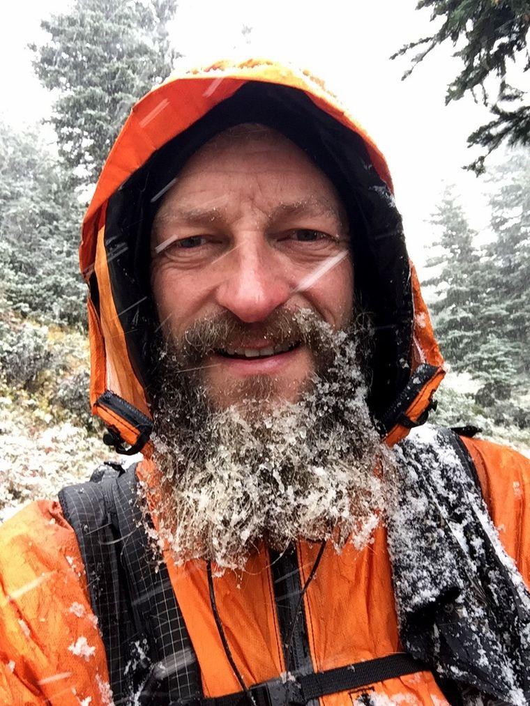 Tims Bart wurde während der Reise immer länger.