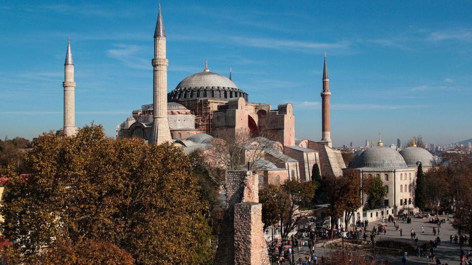 Die Hagia Sophia in Istanbul blickt auf eine bewegende Geschichte zurück.