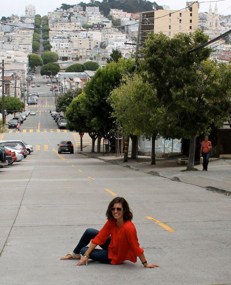 Hügelige Straßen in San Francisco.