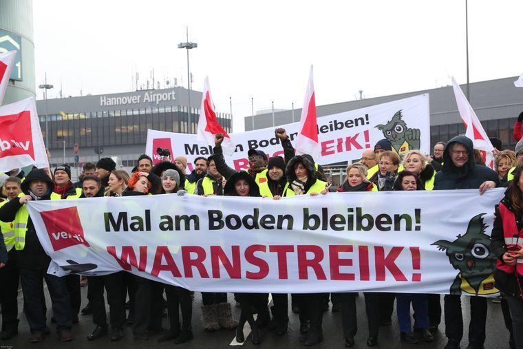 Das Sicherheitspersonal legt auch in Hannover die Arbeit nieder.