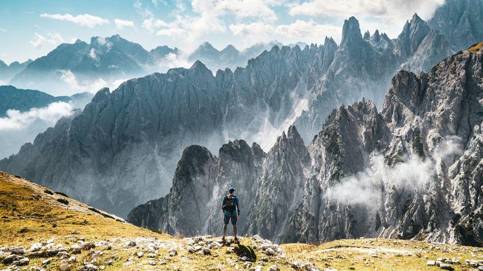 Die Dolomiten, eine Gebirgskette in Italien.