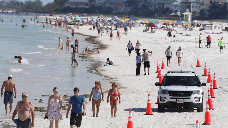 Auch in Florida freuten sich die Bürger über die neuen Freiheiten. Nun sind die ersten Strände vermüllt.