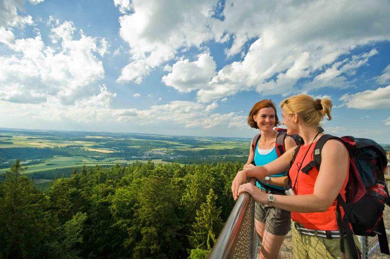 Blick vom Koppenstein auf dem Wanderweg Traumschleife Heimat.