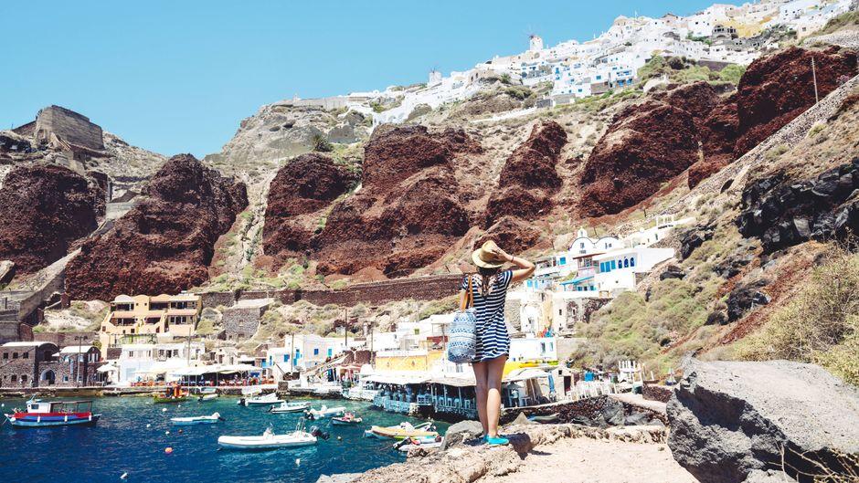 Die griechische Insel Santorin erfreut sich bei deutschen Urlaubern großer Beliebtheit.