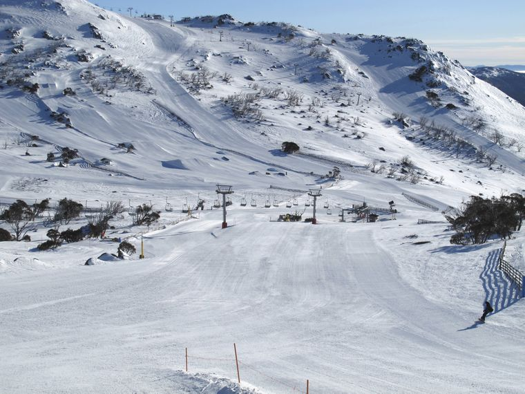 Skigebiet in Perisher, New South Wales.