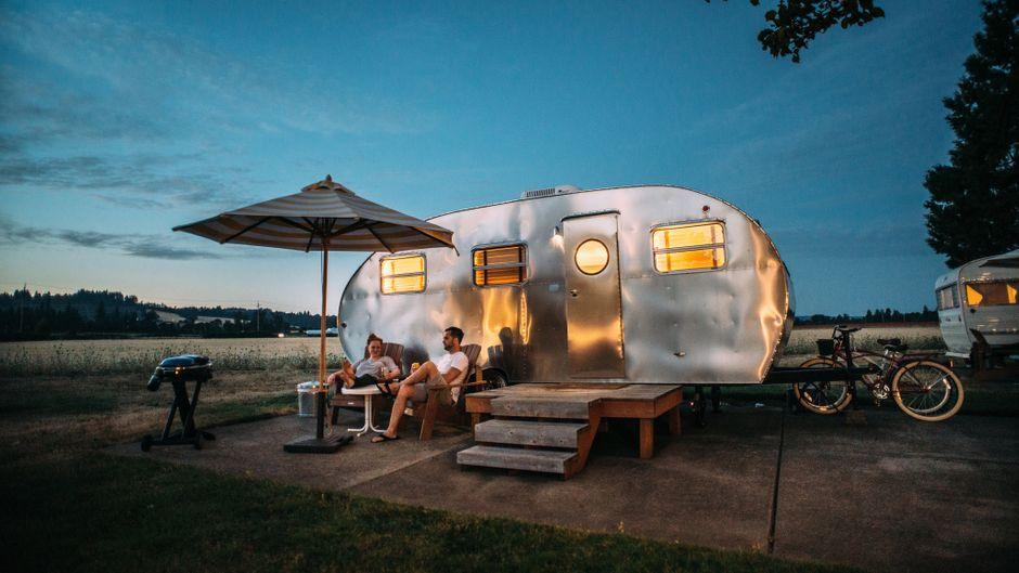 Camper am Abend