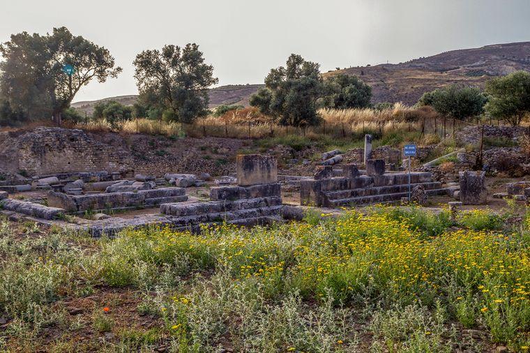 Der antike Apollon Tempel auf Kreta.