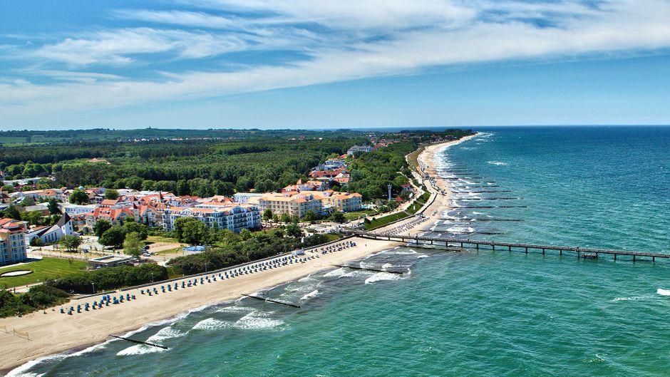 Ausgedehnte Spaziergänge: 6 Kilometer Strand laden dazu ein.