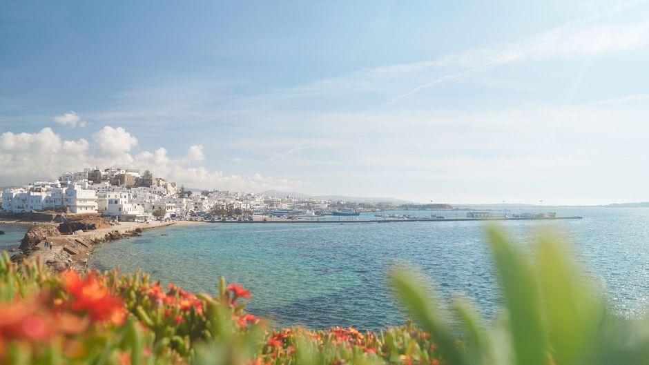 Die Bucht von Naxos – viel Potenzial für einen echten Traumurlaub.