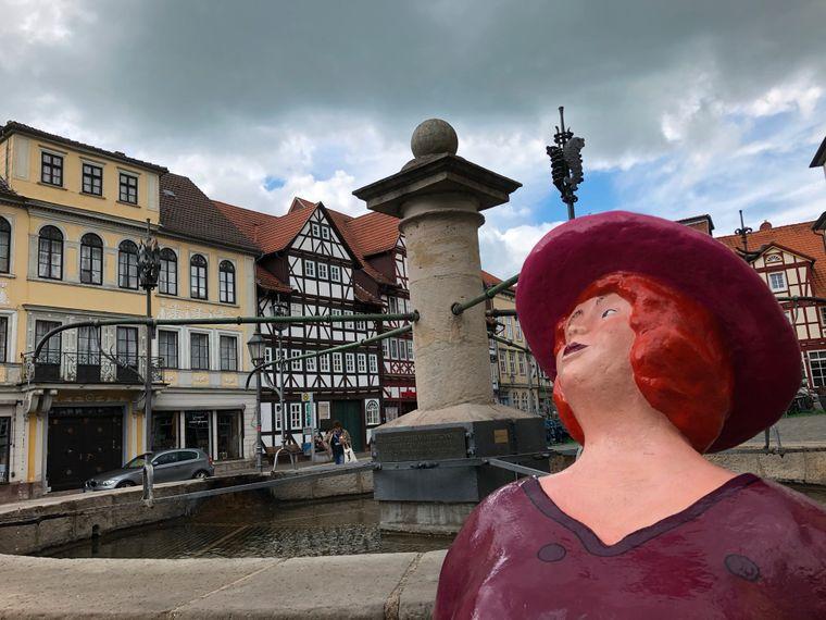 Brunnen auf dem Marktplatz in Allendorf.