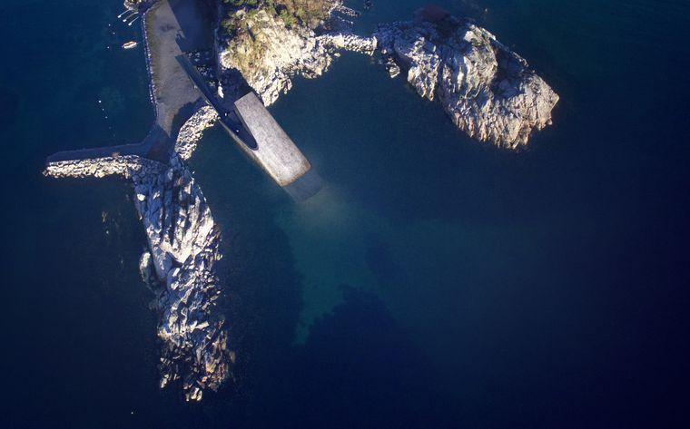 Das Unterwasser-Restaurant befindet sich am hinteren Ende des Gebäudes auf dem Meeresgrund.