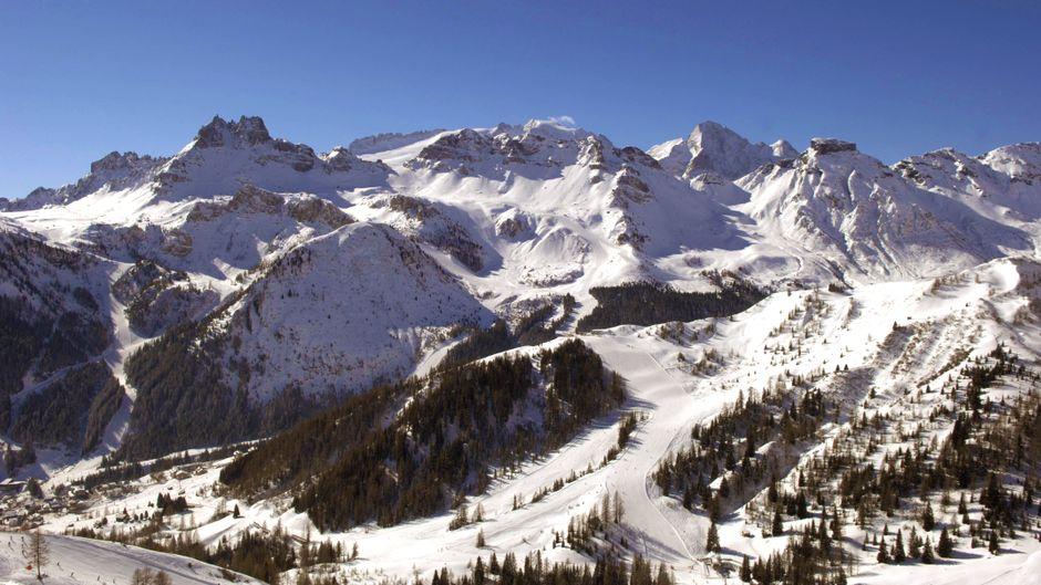 Das Skigebiet in Arabba in Italien