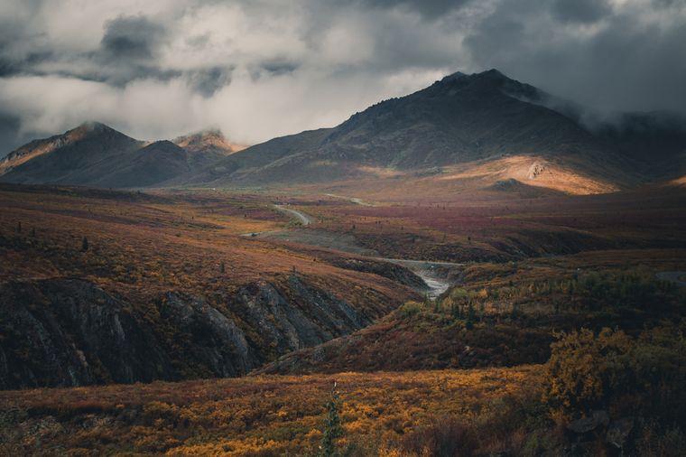 Landschaft im Yukon, Kanada.