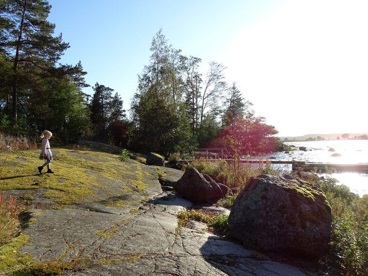 Die Landschaft auf der Insel Varissaari hat fast etwas mystisches. Die vierjährige Ellen kennt sich hier schon bestens aus.