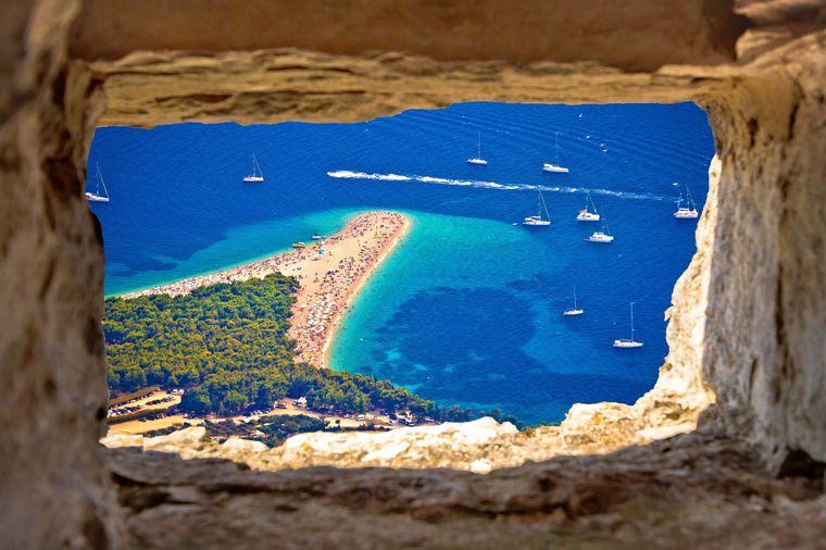 """Zlatni rat – übersetzt heißt der Strand """"goldenes Horn""""; nicht ohne Grund, wie du siehst."""