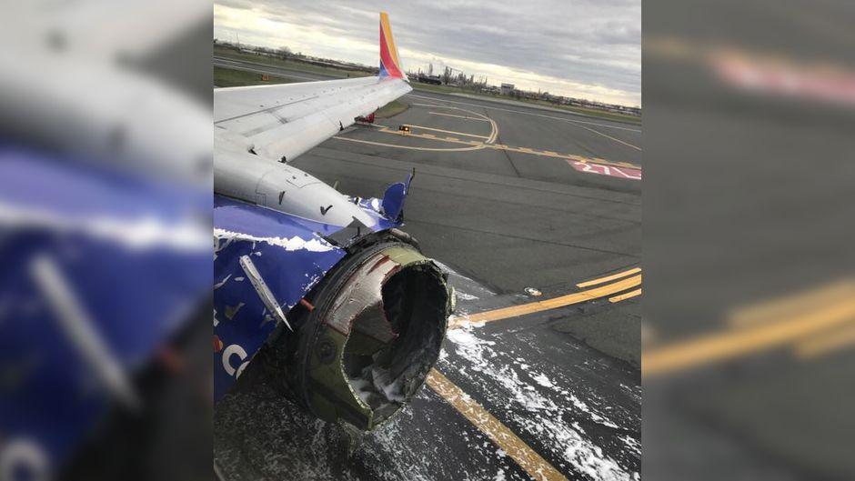 Das Triebwerk der Boeing 737 von Southwest Airlines explodierte.
