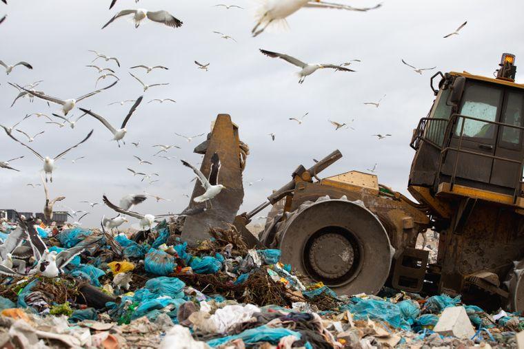 Müllkippe in Kapstadt in Südafrika
