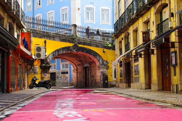 Pink Street, Lissabon.
