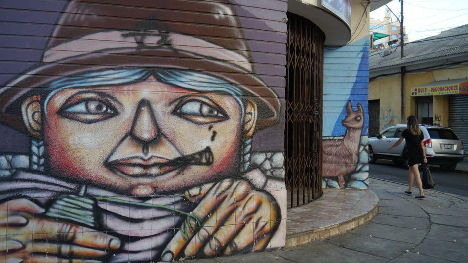 Ein Hingucker: Große Bilder zieren die Häuserfassaden von Cochabamba.
