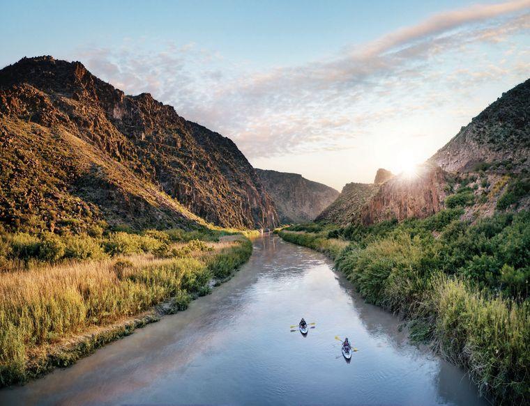 Der Rio Grande im Big-Bend-Nationalpark lässt sich gut vom Wasser aus erkunden.