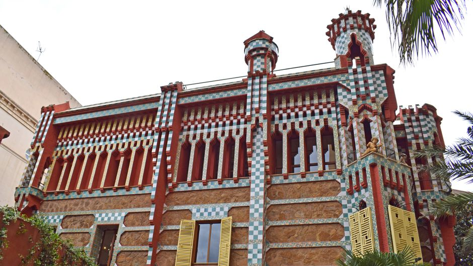 Die Casa Vicens von Antoni Gaudí in Barcelona.