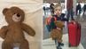 Der vierjährige Luke nimmt seinen Teddy immer mit in den Urlaub.