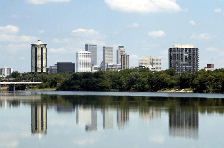 Die Skyline von Tulsa, Oklahoma.