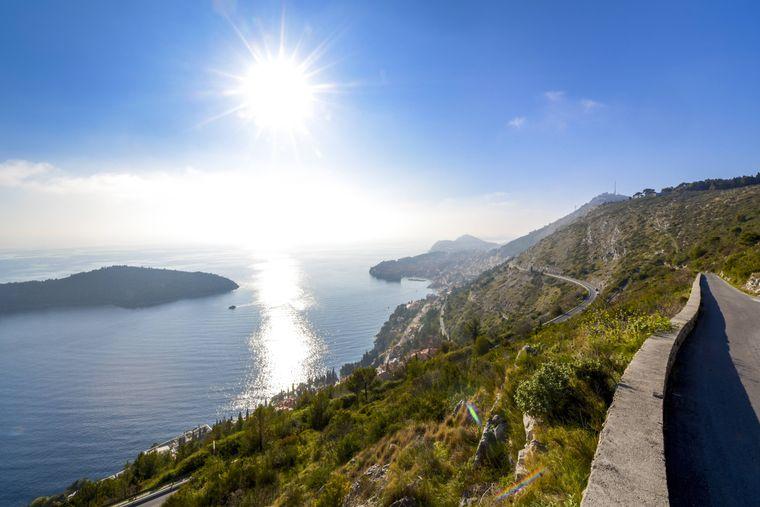 Küstenlandschaft an der Adria, Kroatien.