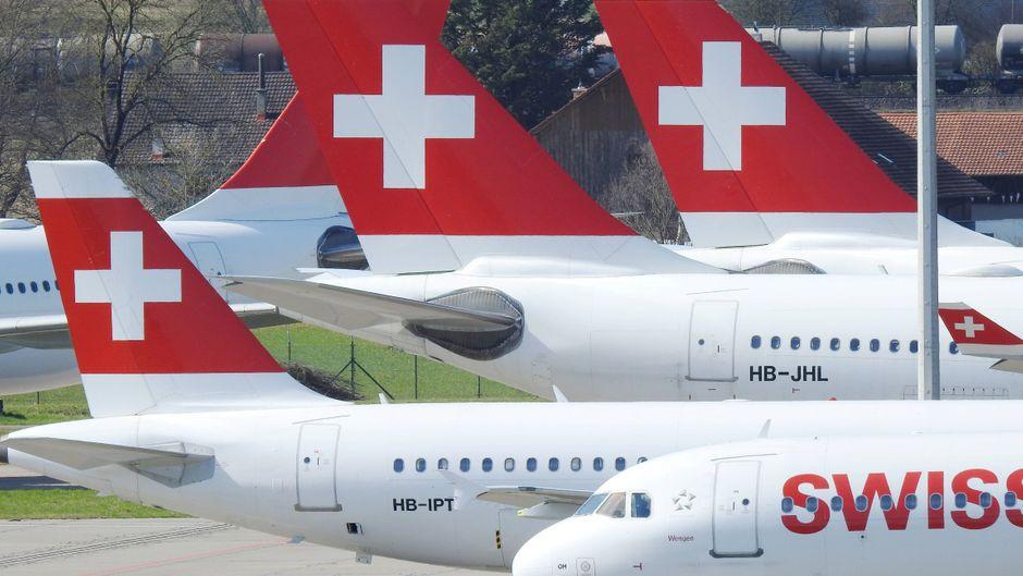 Besteht das Risiko, dass wegen der Coronavirus-Pandemie das Heck der Flugzeuge kippt? Swissport sieht diese Gefahr.